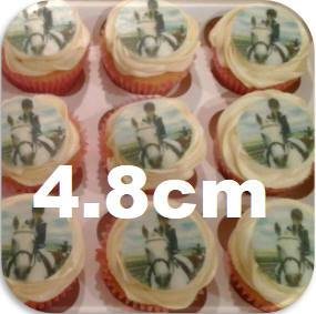personalised edible medium size cup cake toppers