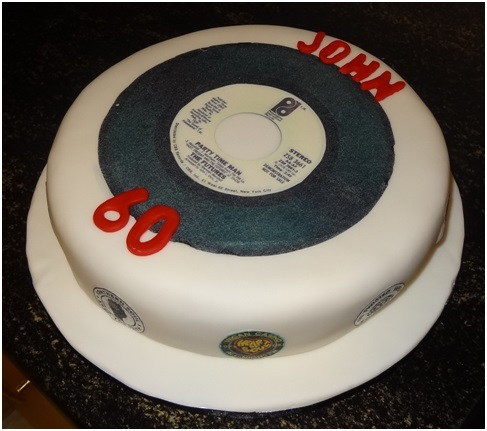 Large 7 5 Personalised Vinyl Record Disc Cake Topper